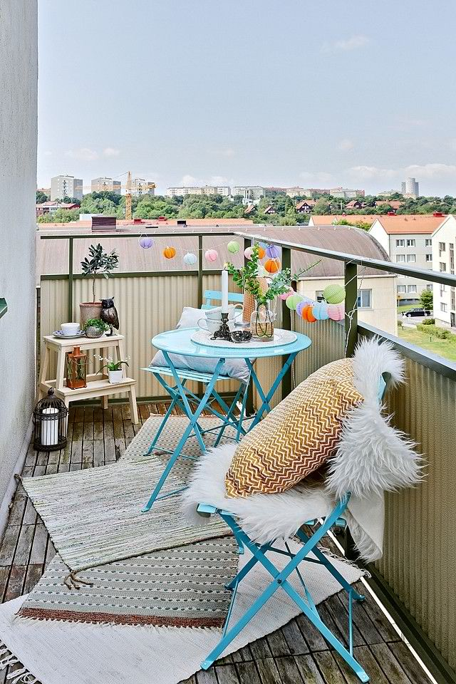 Ideas para una terraza estrecha