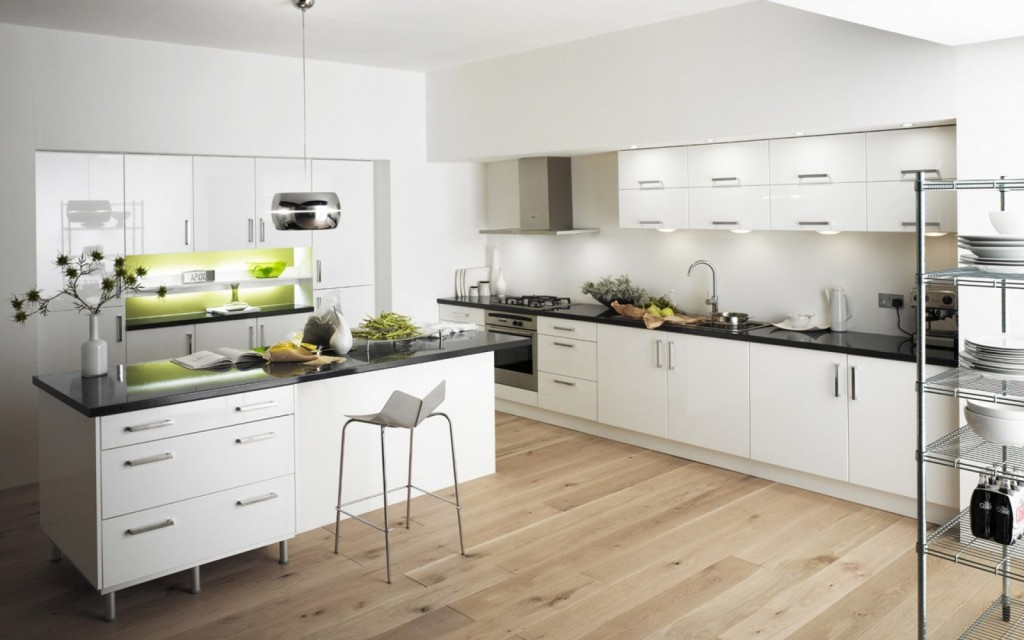 piso madera cocina with material para cocinas modernas