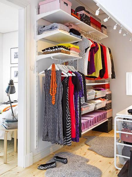 Crear un closet en un espacio peque o for La casa de las cajoneras