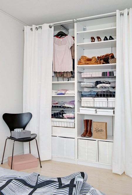 Crear un closet en un espacio peque o for Closet blanco pequeno