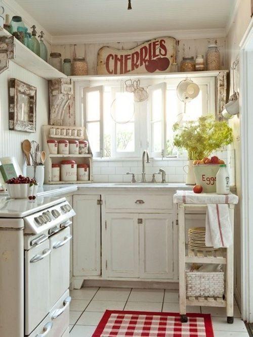 Decora tu hogar al estilo vintage con objetos antiguos - Decorar una cocina rustica ...