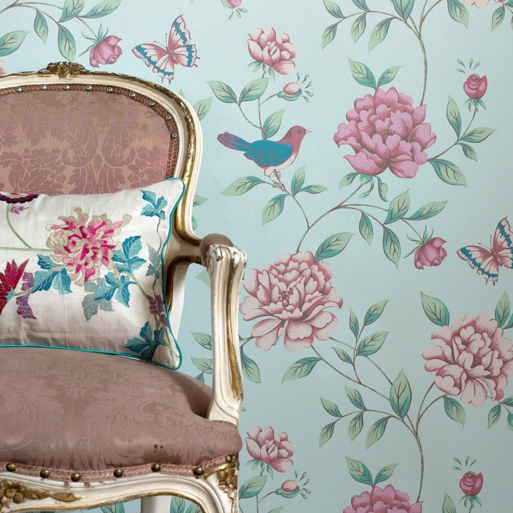 Decora tu hogar al estilo vintage con objetos antiguos - Papel vintage pared ...