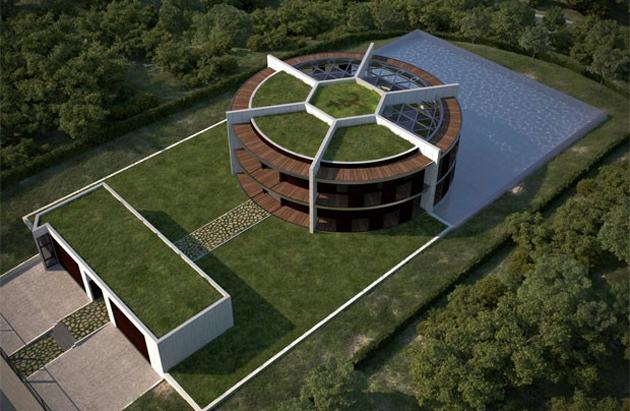 Lujosa residencia enforma de balón de futbol