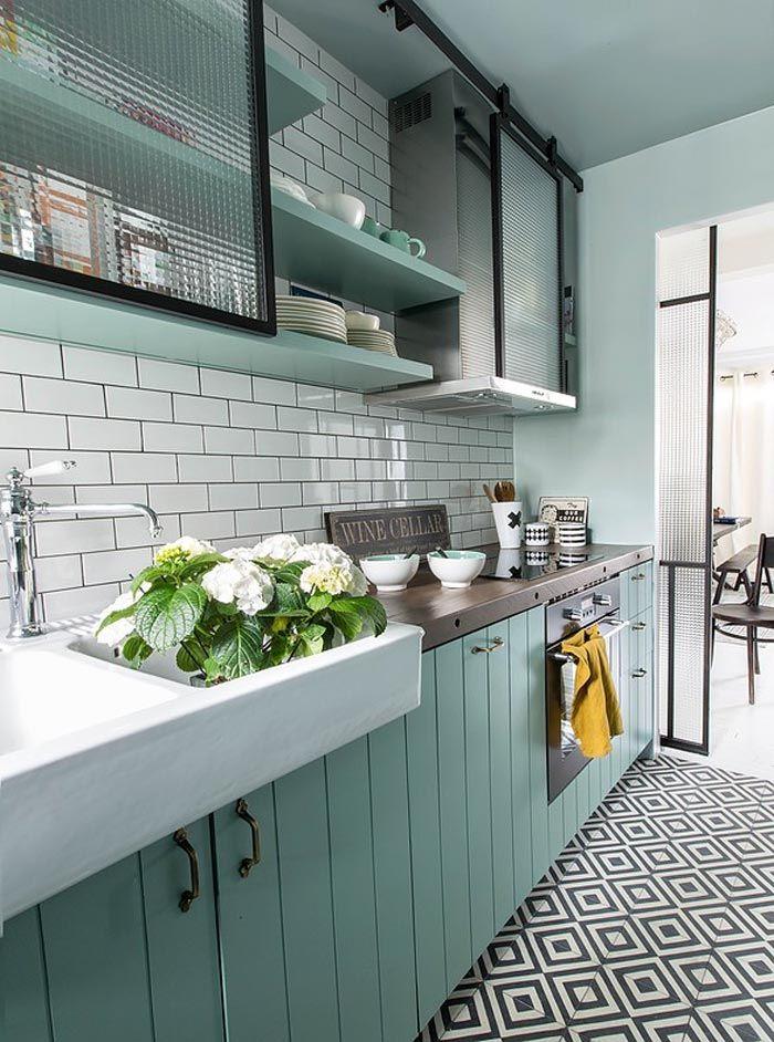 Azulejo Para Baño Antiderrapante: de-verde-%C2%B7-an-apartment-in-paris-and-the-perfect-shade-of-green