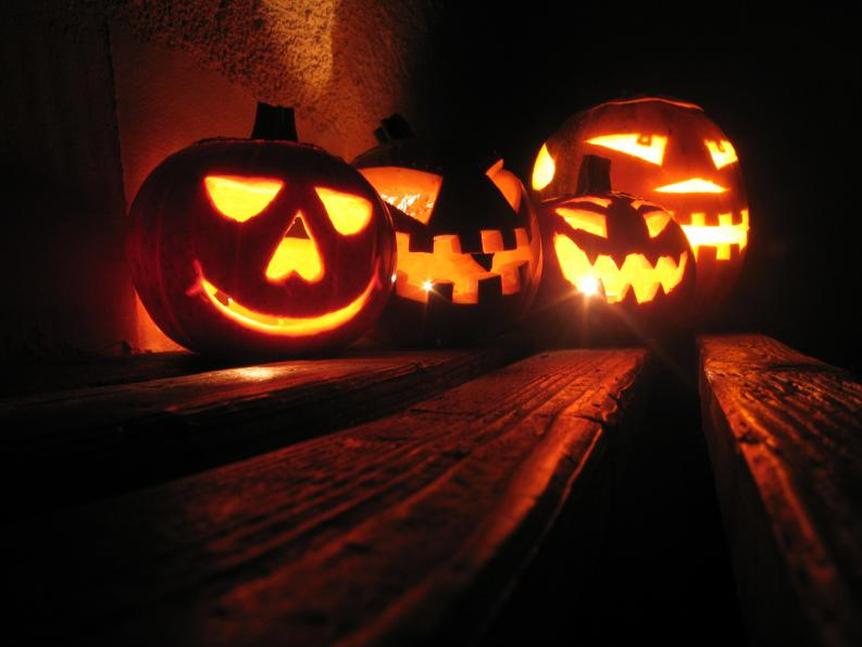 Decoraci n para halloween conejos para una casa de miedo - Calabazas de halloween de miedo ...