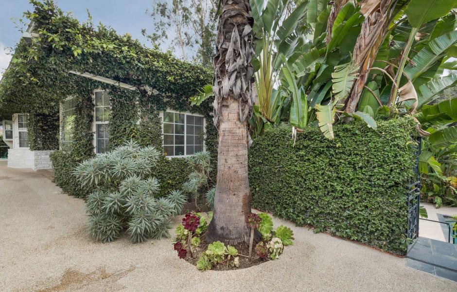 Una casa rodeada de árboles