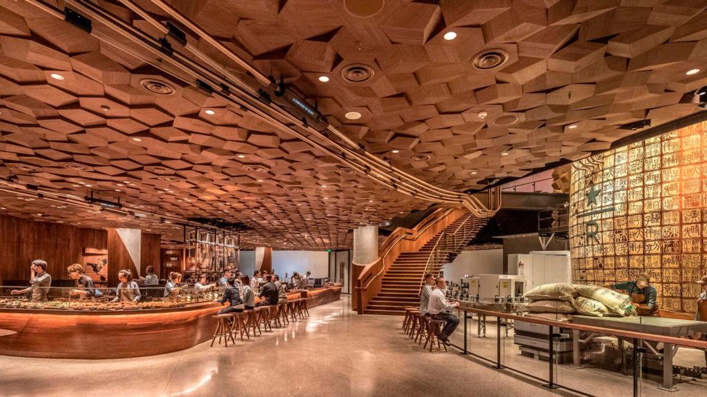 El lujoso Starbucks de Shangai