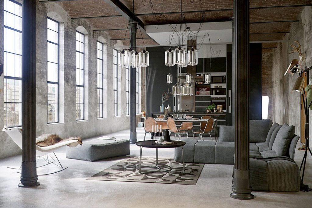 La decoración industrial es una tendencia de la arquitectura