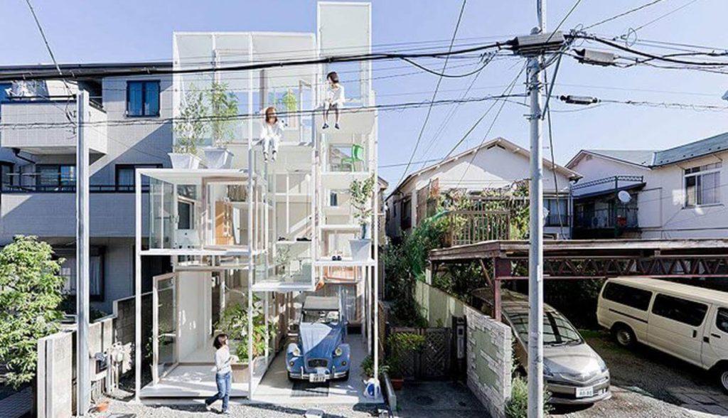 La casa transparente de Japón