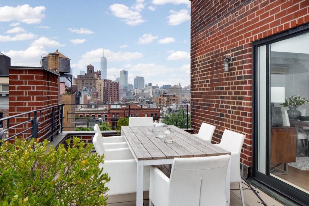 Descubre la terraza del ático de Julia Roberts en Manhattan