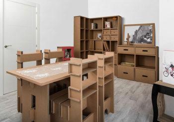 Los muebles de cartón que revolucionan el home staging