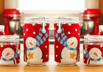 Decora con frascos de navidad