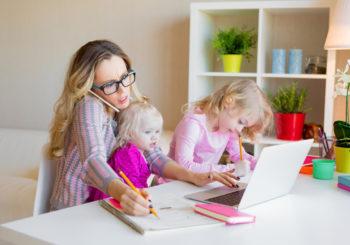 Cömo teletrabajar con niños en casa